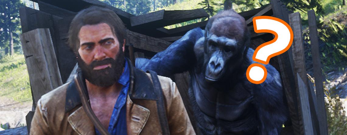 Cowboys in RDR 2 hören einfach nicht auf, Selfies mit Gorilla zu machen