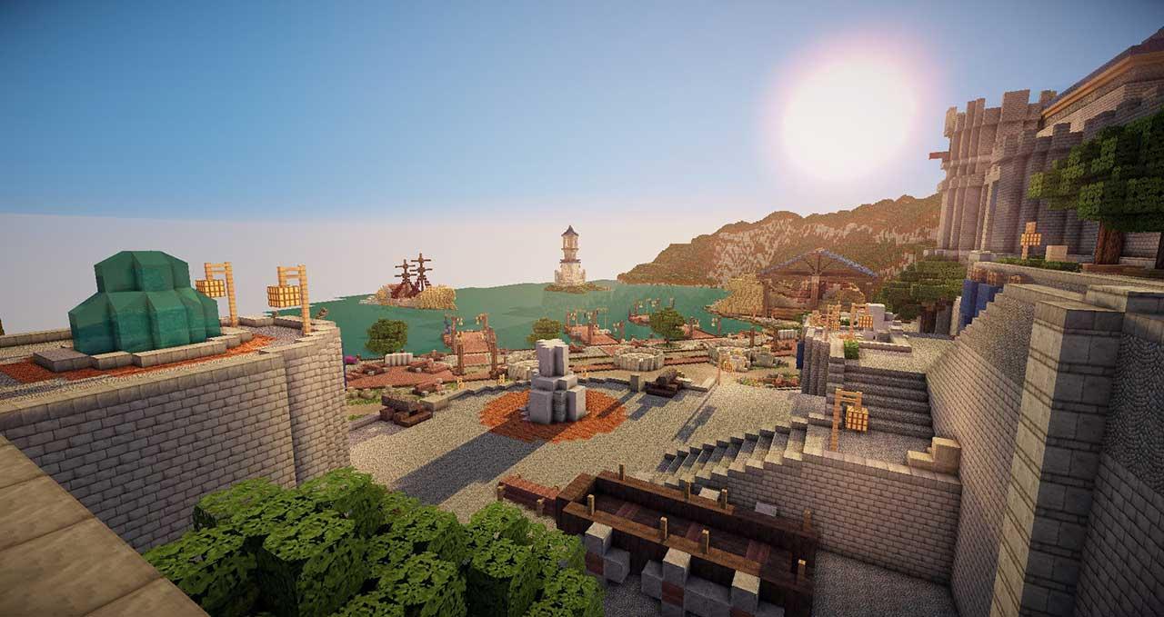 Stormwind-Minecraft-Hafen