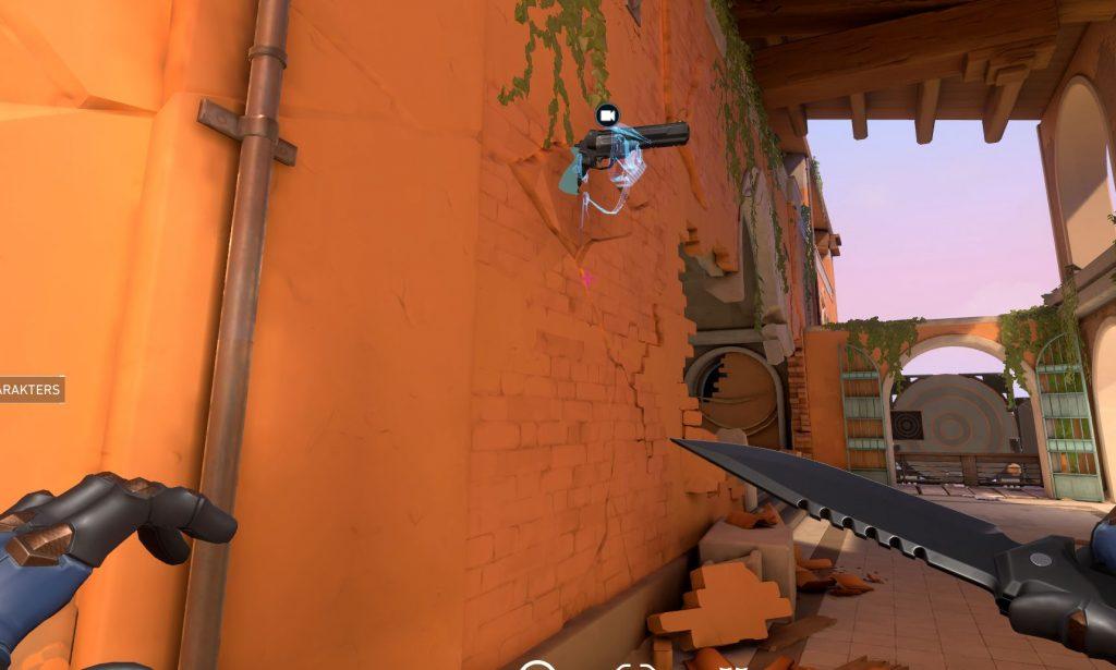 Valorant Kamera Pistole in der Wand
