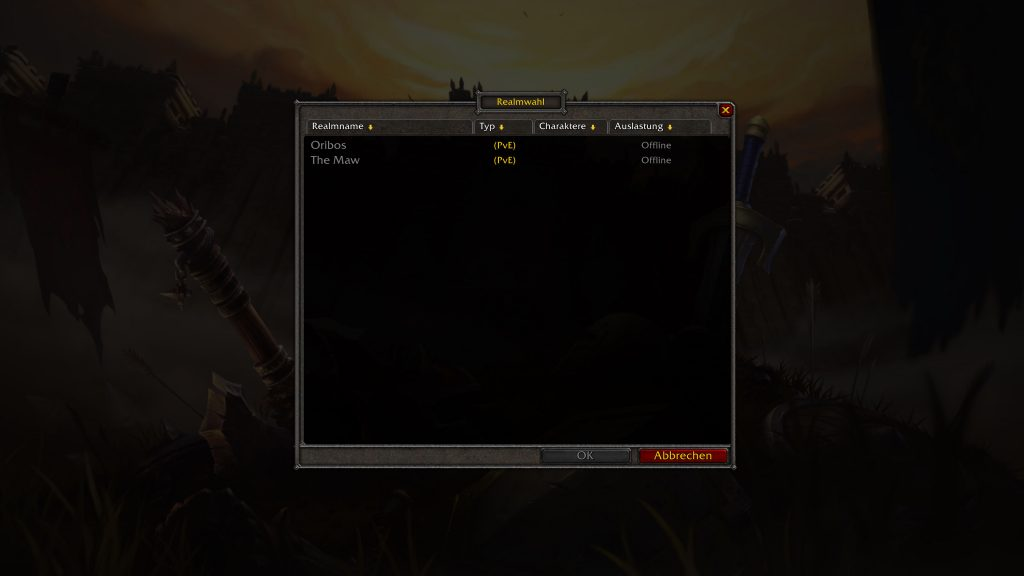 WoW Alpha Shadowlands Server Down