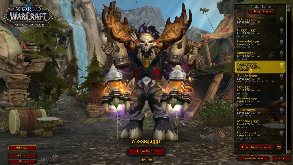 WoW Level 120 Tauren Krieger