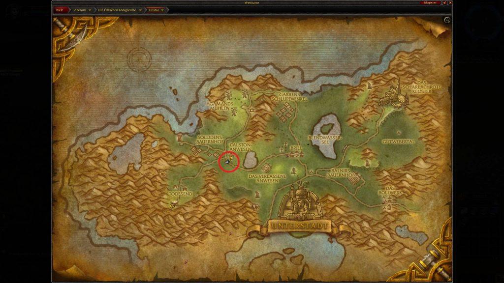 World of Warcraft Pamphlete FUndort