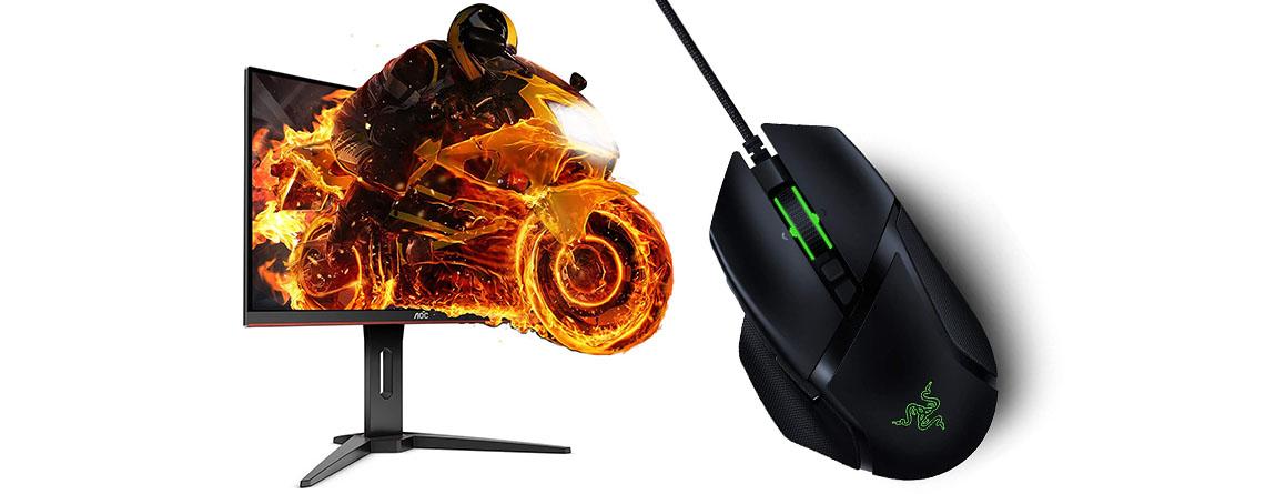 Amazon Angebote: Top Gaming-Monitor & Razer Gaming-Maus günstiger