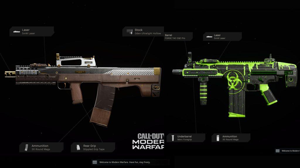 cod modern warfare warzone bundle waffen playlist update 2104