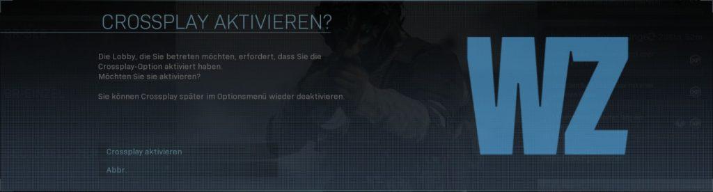cod modern warfare warzone crossplay deaktivieren xbox pc