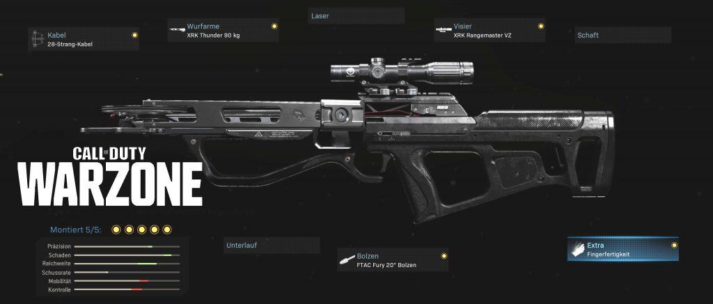 cod warzone waffen armbrust explosiv setup