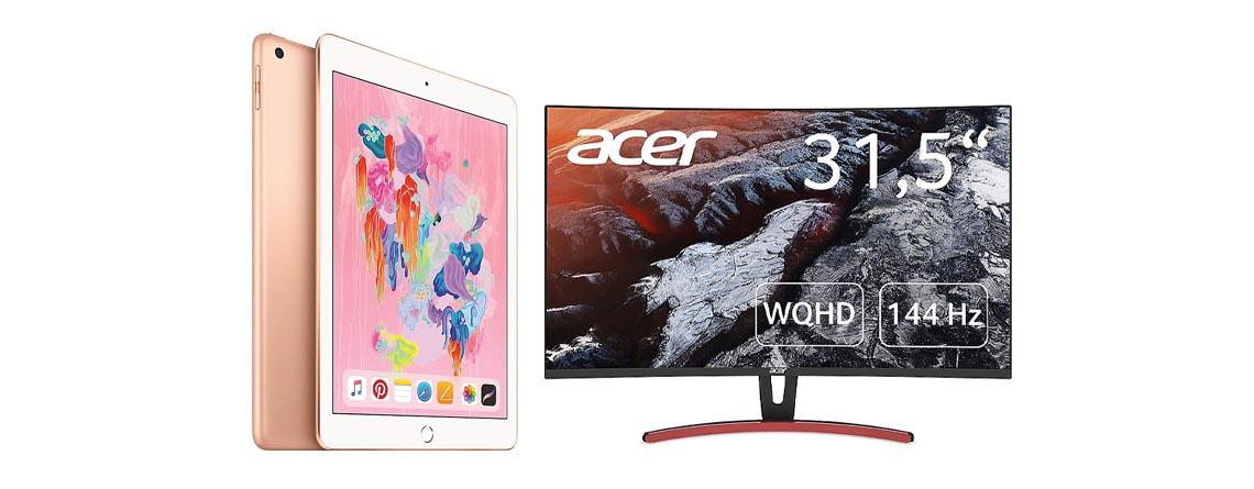 Cyberport Angebote: Apple iPad & Acer Gaming-Monitor stark reduziert