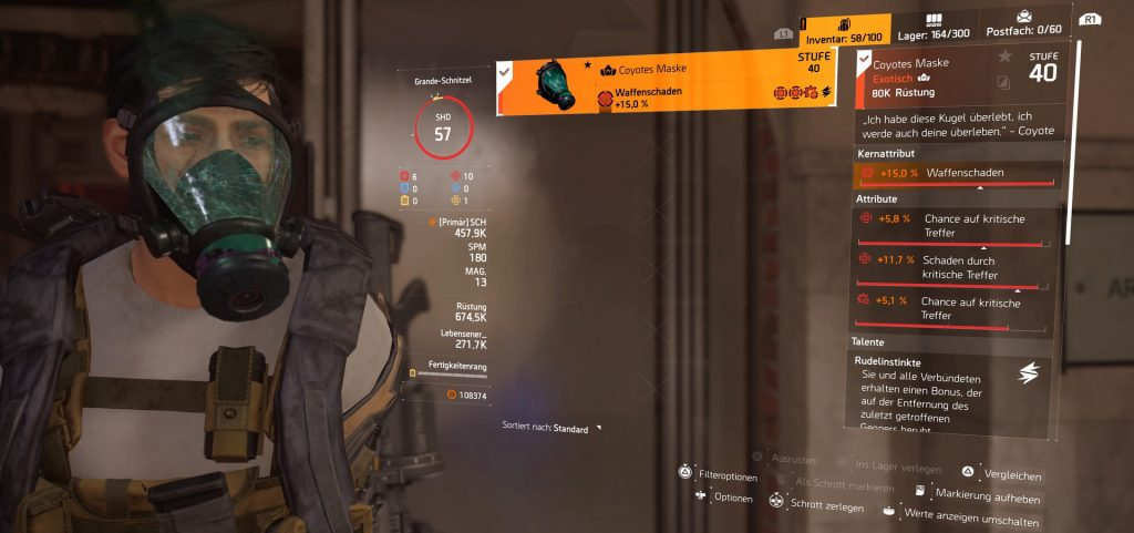 division 2 exotics coyotes maske top roll