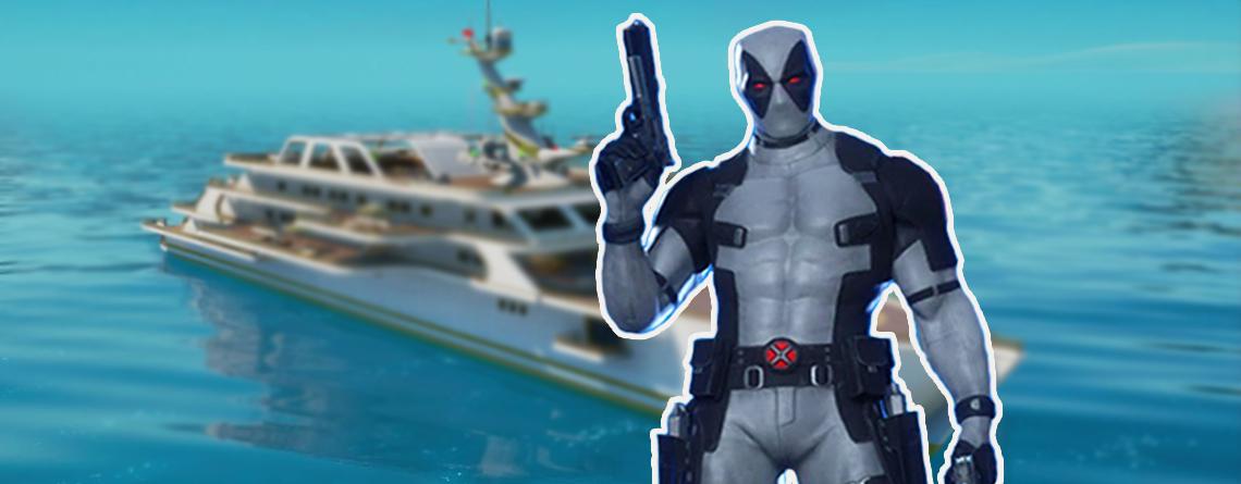 Fortnite: Deadpool Woche 9 –  Shorts finden und vor Hose salutieren