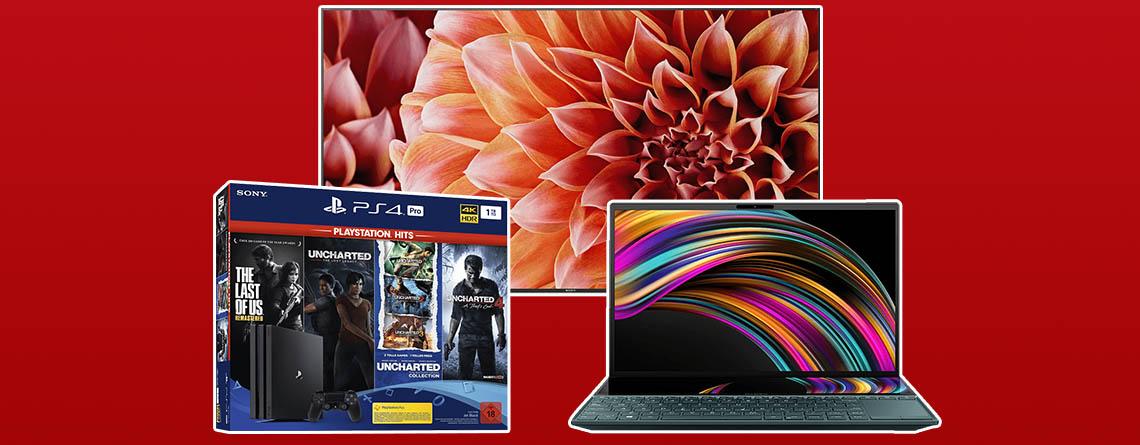 MediaMarkt Prospekt: Sony 4K TV & besonderes ZenBook günstiger