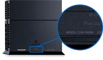 Modelnummer der PS4