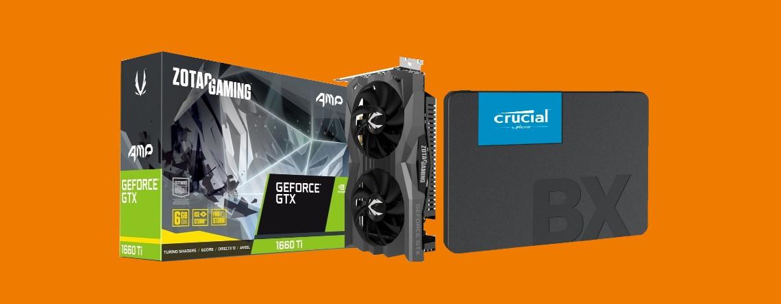 Gute Geforce GTX 1660 Ti und große Crucial-SSD bei Saturn vergünstigt