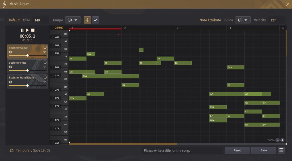 Black Desert Online Musik Komponieren