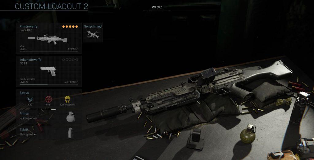 Call fo Duty Modern Warfare Bruen Mk9 solo loadout