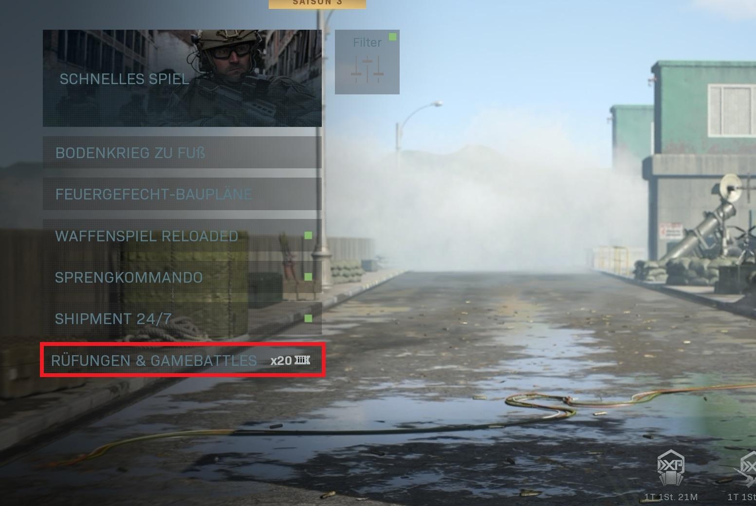 Call fo Duty Modern Warfare Deadzone eigenes Spiel