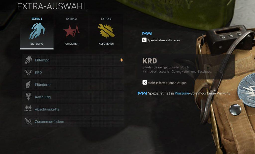 Call fo Duty Modern Warfare KRD Perk