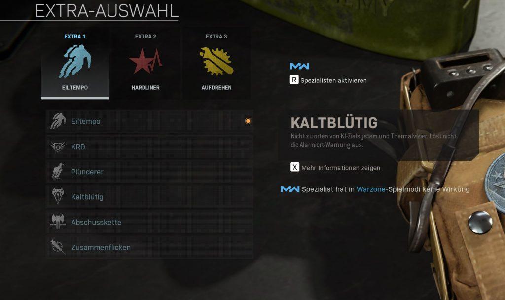 Call fo Duty Modern Warfare Kaltblütig