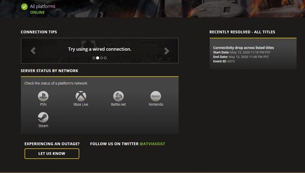 Call fo Duty Modern Warfare Server Status 14 Mai
