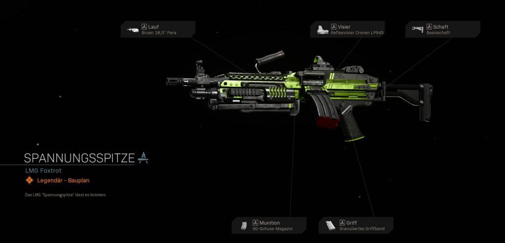 Call fo Duty Modern Warfare Spannungsspitze LMG