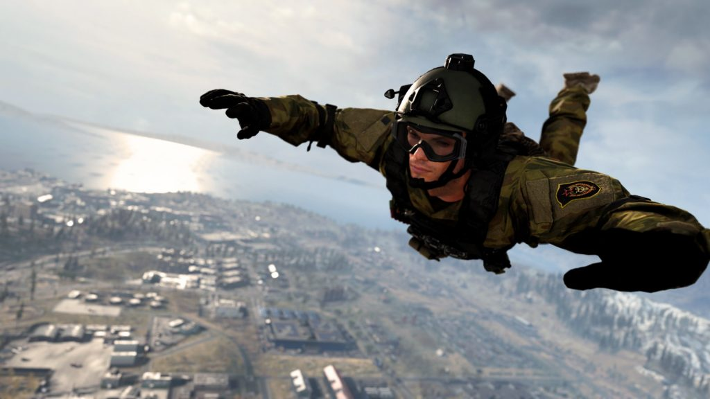 Call fo Duty Warzone Fallschirmspringer