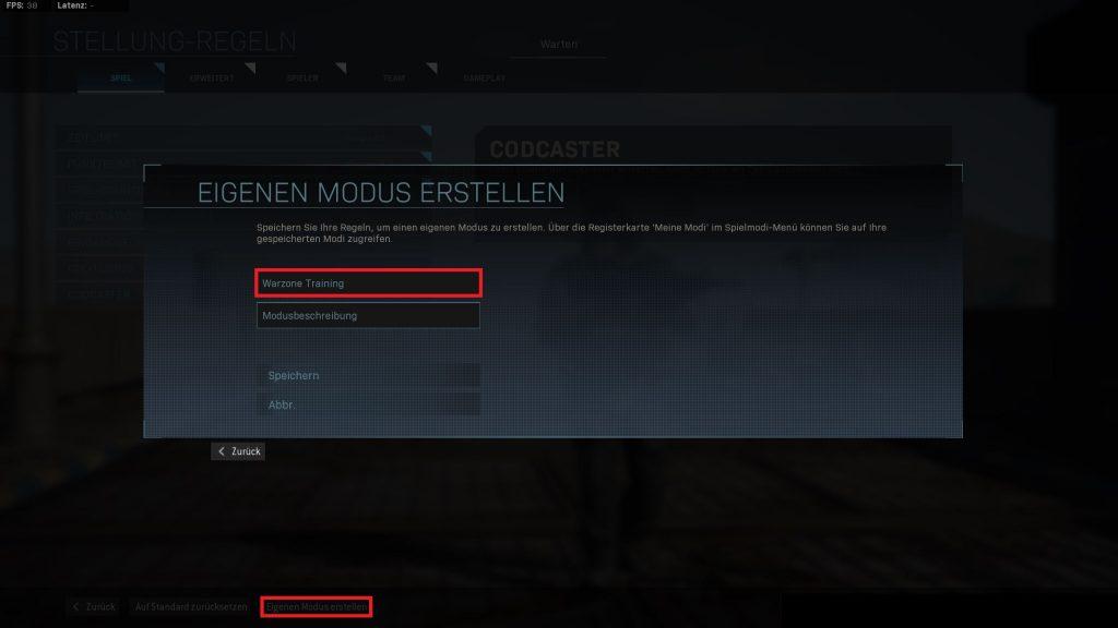 Call fo Duty Warzone Zieltraining
