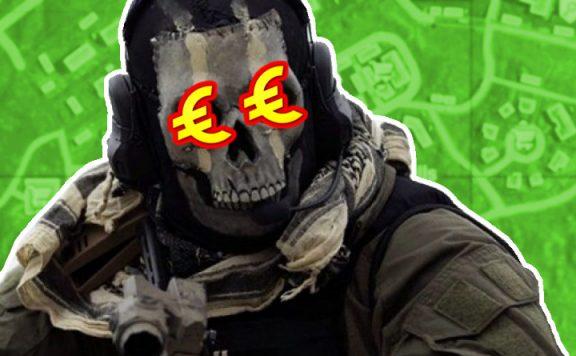 CoD MW Warzone Ghost Geld in den Augen Titel