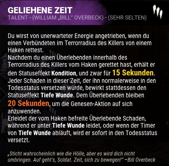 Dead by Daylight Perk Geliehene Zeit