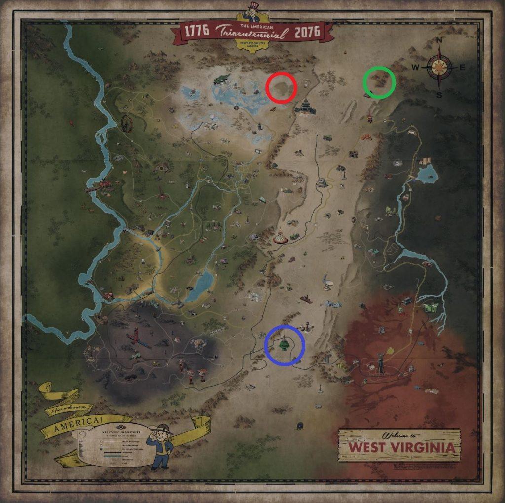 Fallout 76 KarteGoldbarren Händler 2
