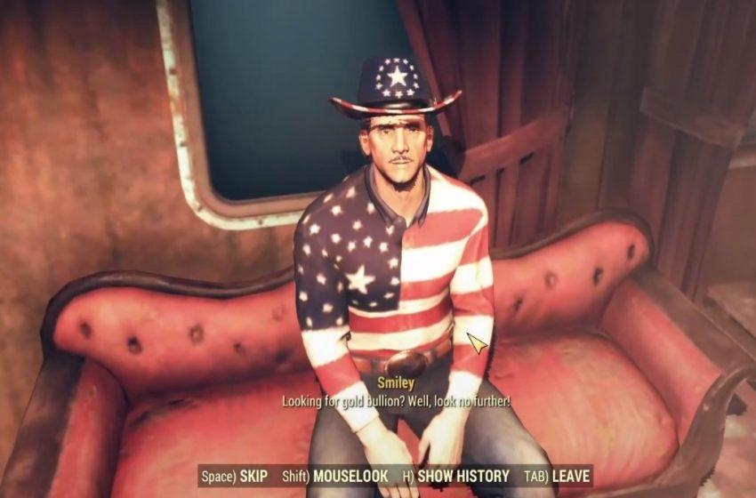 Fallout 76 Smiley NPC