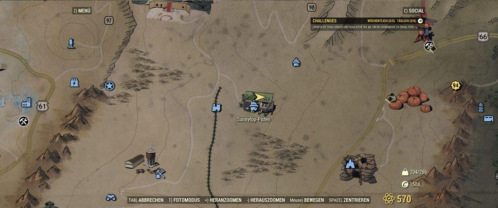 Fallout 76 Sunnytop-Pisten