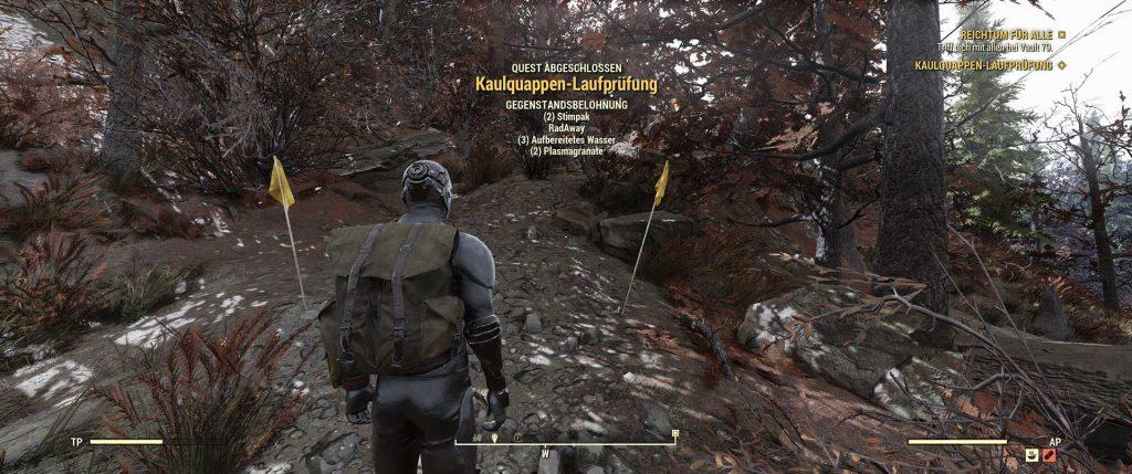 Fallout 76 Quest-Belohnung