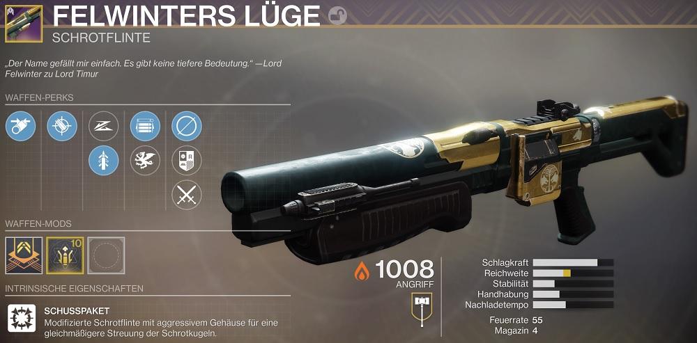 Felwinters Lüge Lie Shotgun Destiny 2
