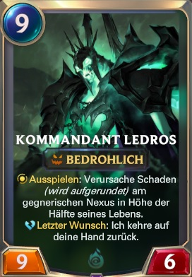 Kommandeant Ledros Legends of Runeterra
