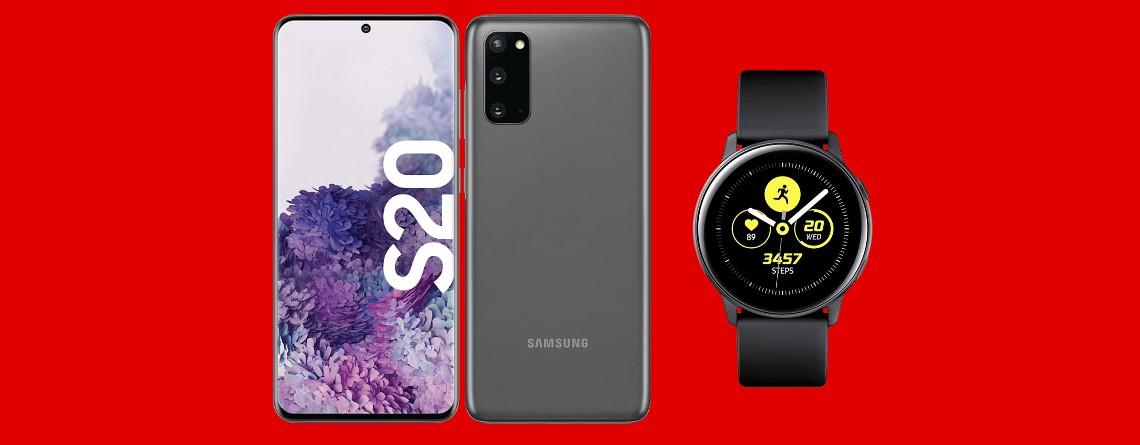 Samsung Galaxy S20 mit Smartwatch und Tarif günstig bei MediaMarkt