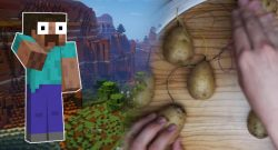Minecraft Steve Potato player title 1140x445
