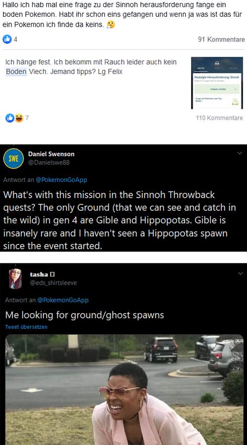 Pokémon GO Boden Sinnoh Frage