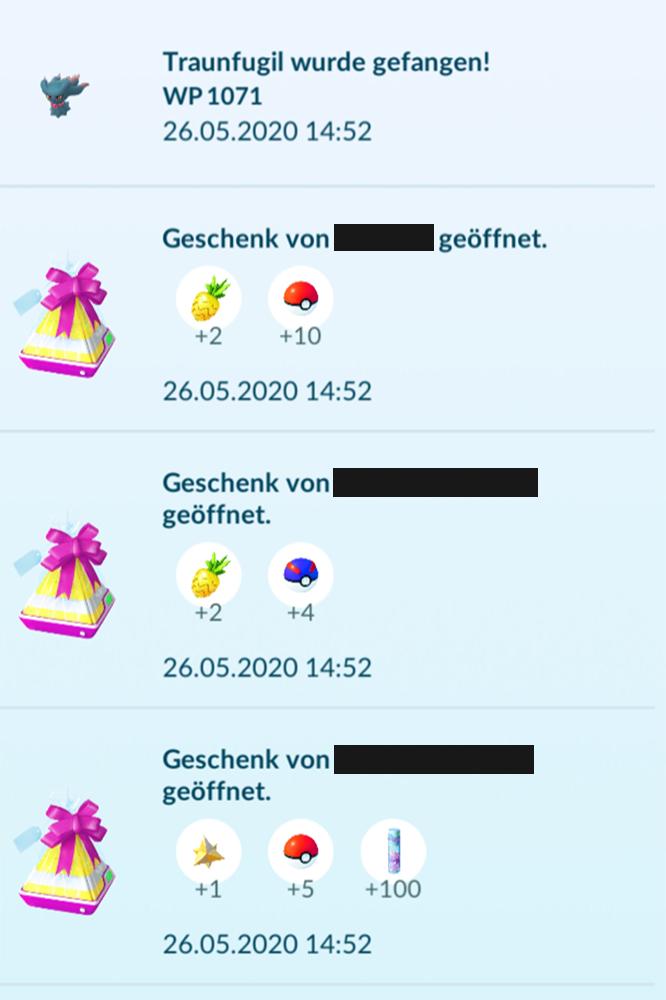 Pokémon GO Geschenke Bälle