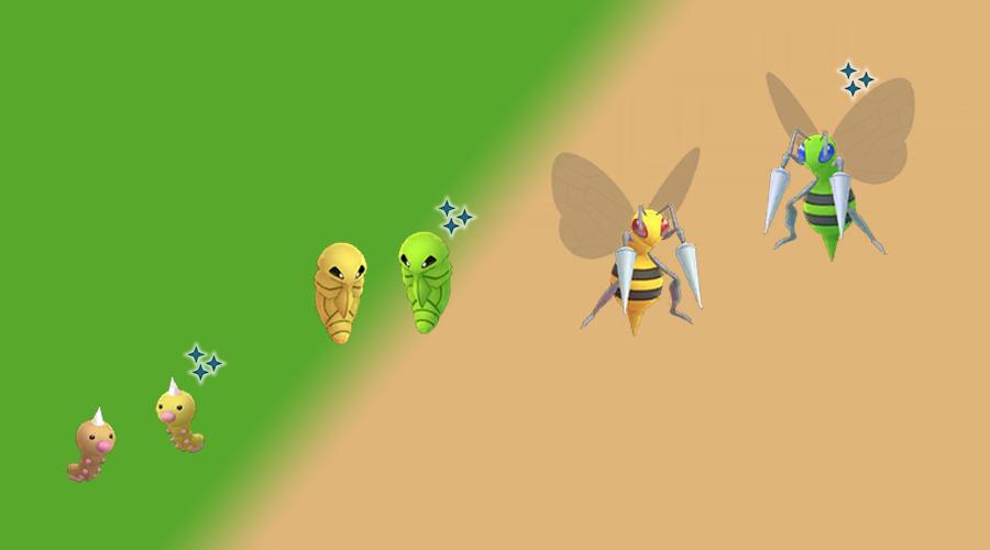 Pokémon GO Shiny Hornliu Familie