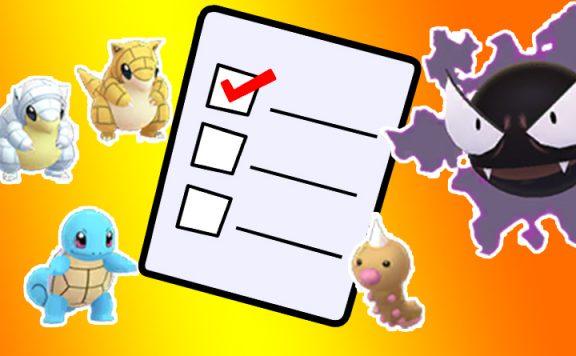 Pokémon GO Umfrage Titel Nebulak Schiggy Sandan Hornliu