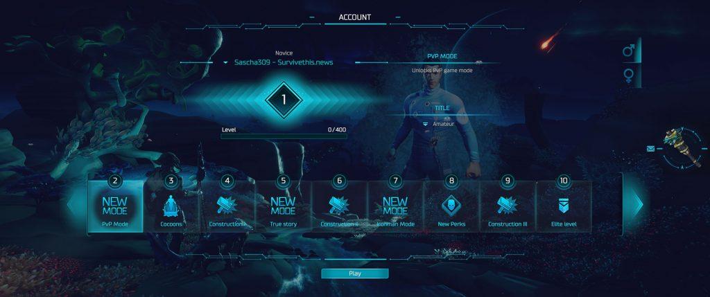 Population Zero Spieler-Account