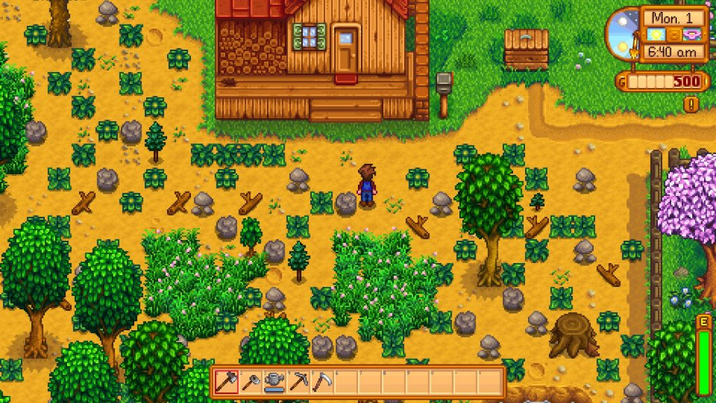 Stardew Valley Farm First Day