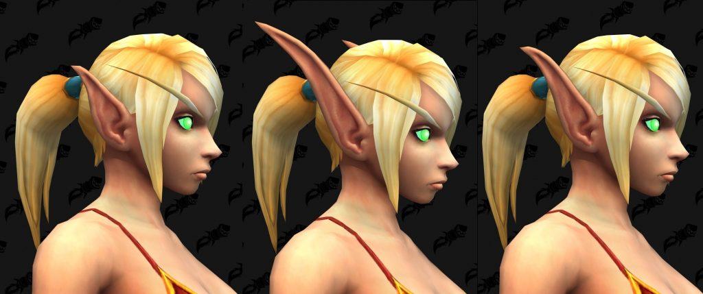 WoW Blood Elf Female Ear Sizes