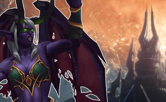 WoW Demon Hunter Casting Shadowlands title 1140x445
