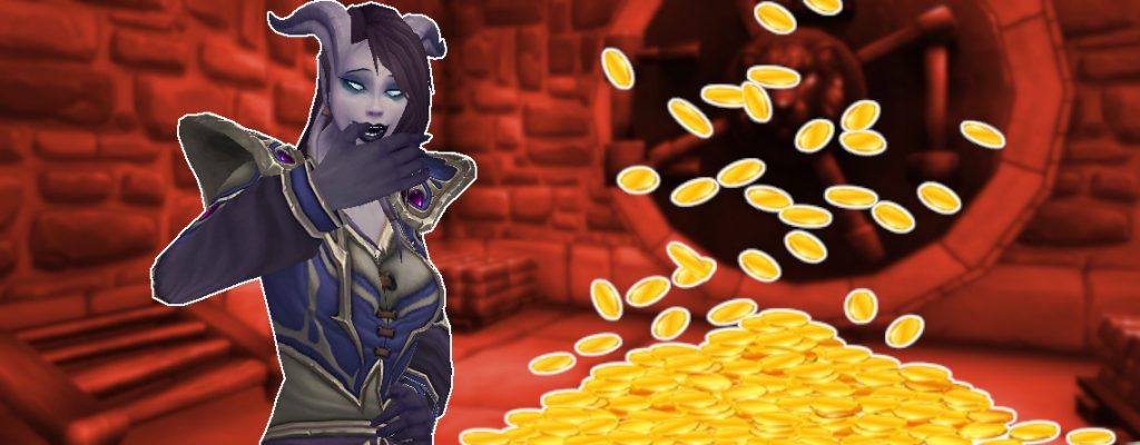 WoW Gold Bank Draenei laughing titel title 1140x445