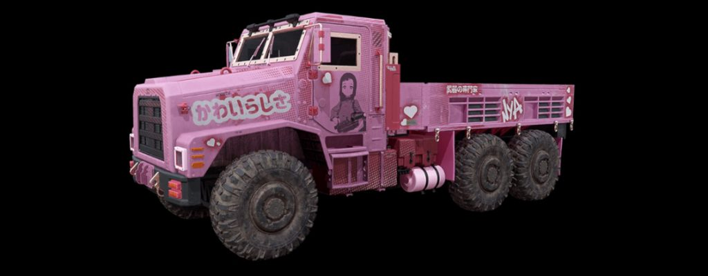 cod warzone fahrzeuge truck anime express rosa