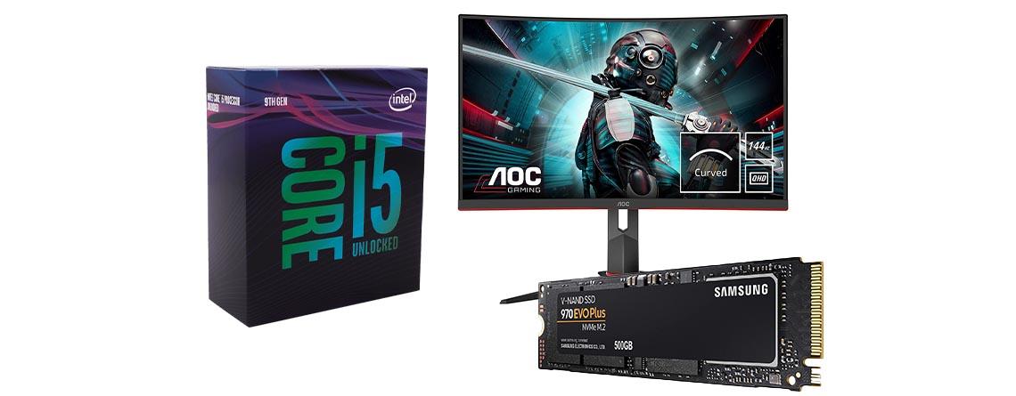Gaming-PC günstiger aufrüsten: Intel CPU & Gaming-Monitor im Angebot
