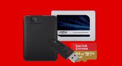 Externe Festplatten, SSDs und weiterer Speicher reduziert bei MediaMarkt
