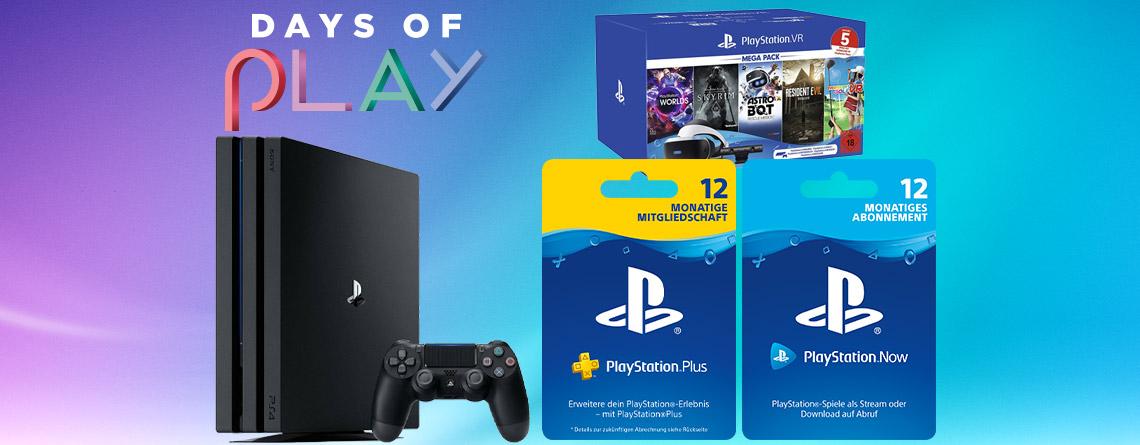 Nur noch heute: Days of Play 2020 Angebote für PS4, PS Plus & VR