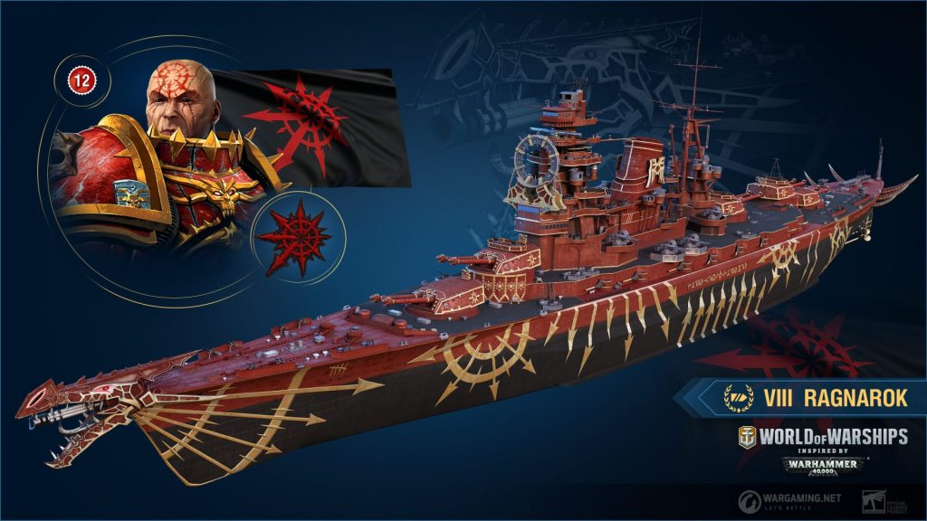 World of Warships Warhammer 40k Chaos