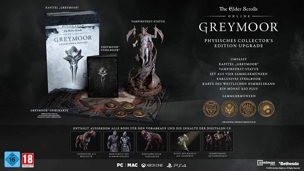 eso greymoor collectors edition inhalte